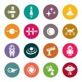 Space icon setvector illustration
