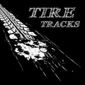 Tire tracks  Vector illustration on black background