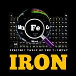 Постер, плакат: Periodic Table of the element Iron Fe