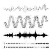 Vektor zvukové vlny sada