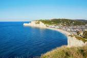 Scenic view of Etretat village