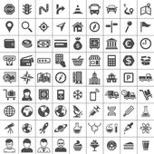 Universal Icon Set 81 icons Transport business financial research and social icons Simplus series