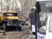 Konvoj autobusů pro uprchlíky