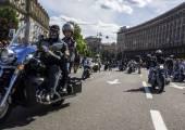 Ukrajinská motorkářů v Kyjevě