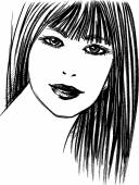 Beautiful female face sketch