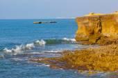 Rocky coast in Atlantic Ocean