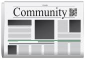 Newspaper Idaho - Community Title page abstract of the newspaper with the bar code