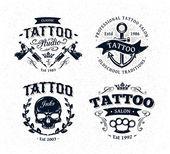 Tattoo studio emblémy