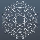 Okrasné kruhové krajky. vektorové ilustrace
