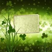 St. Patricks Day greeting card  on the green background