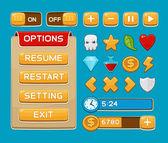 Tlačítka rozhraní pro hry nebo aplikace