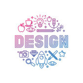 Vektor linear Logo-Design-Konzept