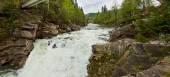 Waterfall Probiy in Carpathians, Ukraine