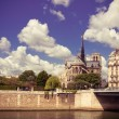 Постер, плакат: Notre Dam and the Seine river