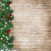 Vánoční strom jedle s kardinálem