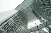 Powerful structure of Grand Arche in La Defence financial district