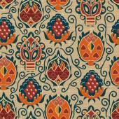 Bezešvé etnické textury s tropickými květinami. Základ pro wallpap