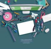 Kaligrafie - koncepce pracoviště
