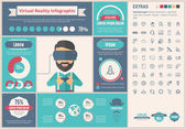 Virtual Reality flat design Infographic Template