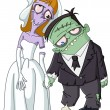 Постер, плакат: Vector zombie wedding