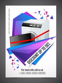 Sale Flyer Banner or Pamphlet with 50% discount offer for Electronics Shop