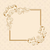 Beautiful floral design decorated frame in square shape on seamless background