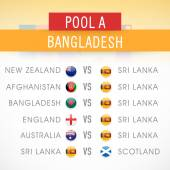 Cricket World Cup 2015 Pool A Bangladesh match schedule versus other countries