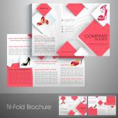 Professional trifold brochure catalog flyer or template for women's sandals shop