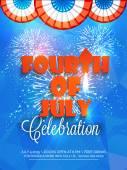 Americký den nezávislosti oslav krásné pozvánky