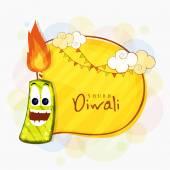 Funny firecracker for Happy Diwali celebration.
