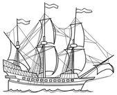 Skizze-Illustration der Yacht
