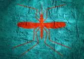 Komár silueta na konkrétní texturou povrchu