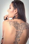 girl with a tattoo