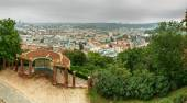 View of urban landscape of Brno