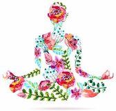 Yoga-pose, Aquarell helle Abbildung