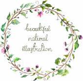 Aquarell floral Frame für Hochzeit Einladung design