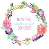 Sada kosmetiky akvarel