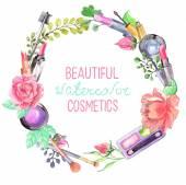 Aquarell-Kosmetik-Satz