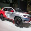 Постер, плакат: Rally Baja Portalegre 500 version of the Mitsubishi Outlander PHEV European premiere