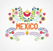 Mexico flowers pattern and elements Vector illustration
