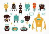 Robot aranyos ikonok és a karakterek