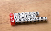 BPM  business process management on wood