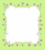 Spring or Summer Frame of Flowers