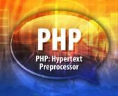 PHP acronym definition speech bubble illustration