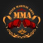 Постер, плакат: MMA mixed martial arts emblem badges
