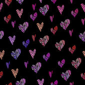 Hearts background graphics Vector