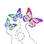 Pillangók repülés sziluettek