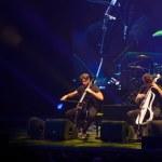 Постер, плакат: Bucharest Romania December 8: 2 Cellos famous Croatian cello duo performs at Sala Palatuluih