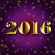 Постер, плакат: 2016 golden astrology signs on the violet background