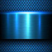 Kovové texturu pozadí modré
